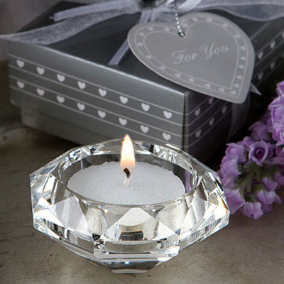 Diamond Shaped Crystal Tealight Candle Holders Bulk