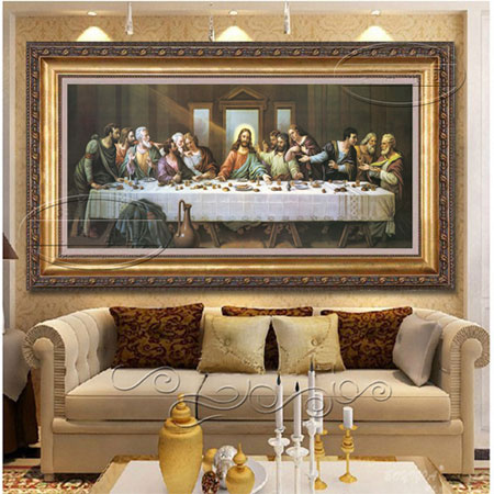 The Last Supper Art Reproductions on Canvas Oil Painting on Sale