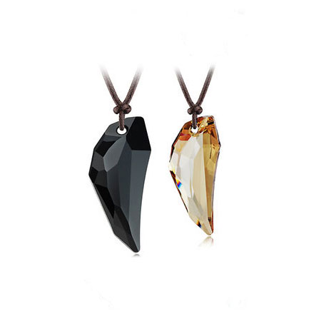 Black Obsidian Gemstone Fashion Couples Necklaces for Lovers
